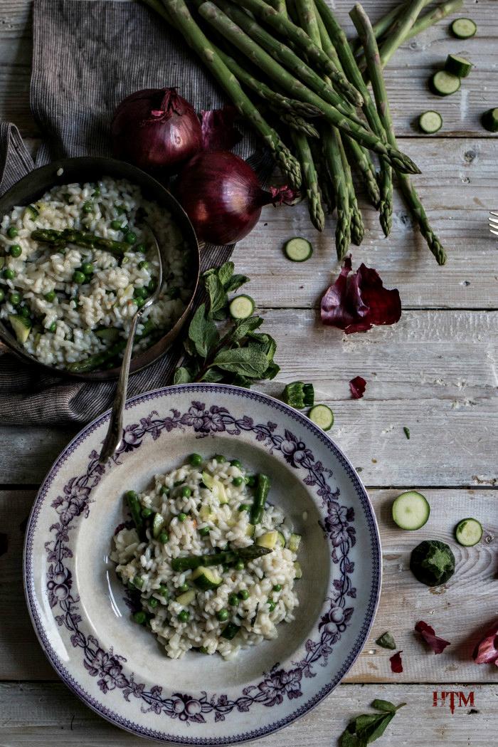 Seasonal Mint & Vegetable Risotto